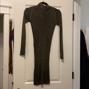 NWT BCBGenration Metallic Sweater Dress XXS